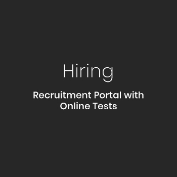 Recruitment Portal with Online Tests