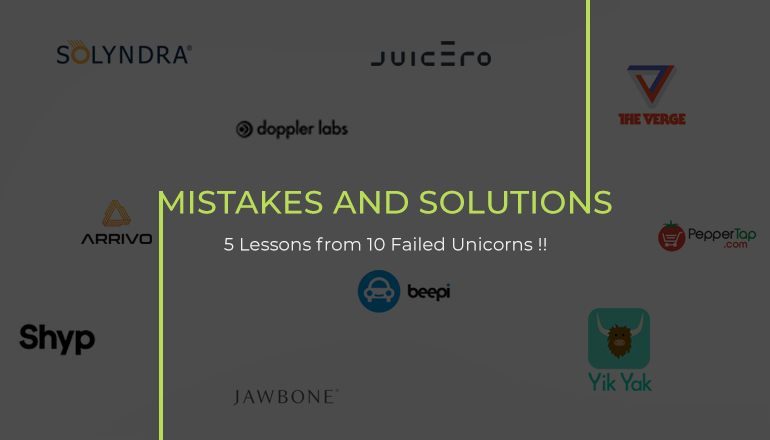 mistakes-and-solutions unicorn startups