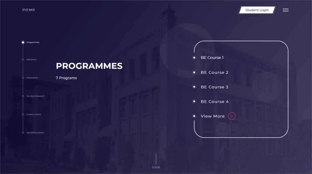 PIEMR programmes