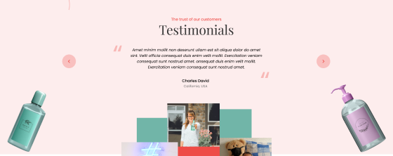 Dynamic Testimonial slides