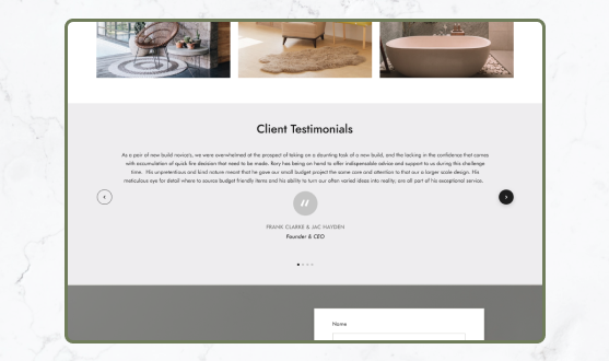 Client testimonials Rory kelly