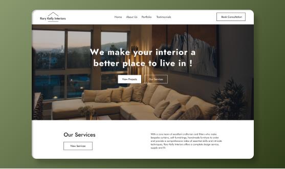 Rory kelly Interiors website