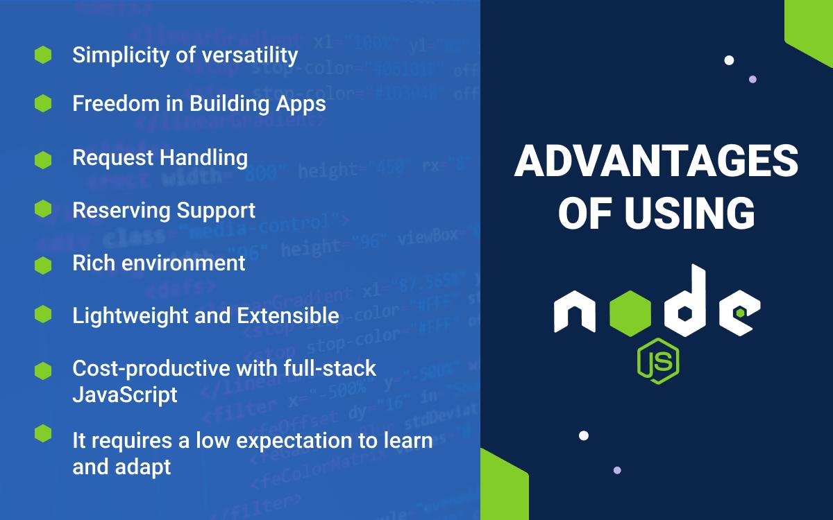 Advantages of using Nodejs